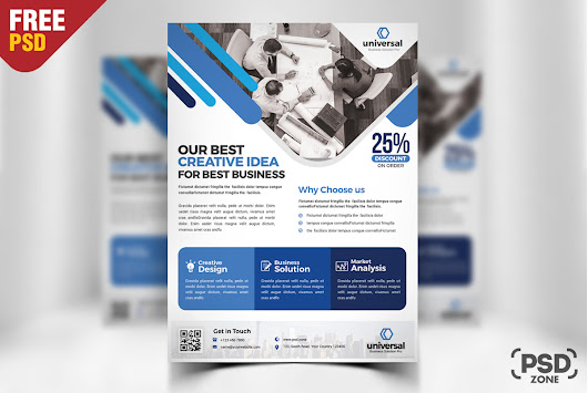 Corporate Business Free Flyer PSD - PSD Zone
