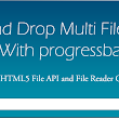 Drag and drop multiple file upload with progress bar