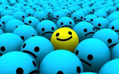 bolita optimista y feliz