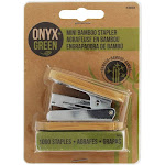 Onyx Green Mini Bamboo Stapler