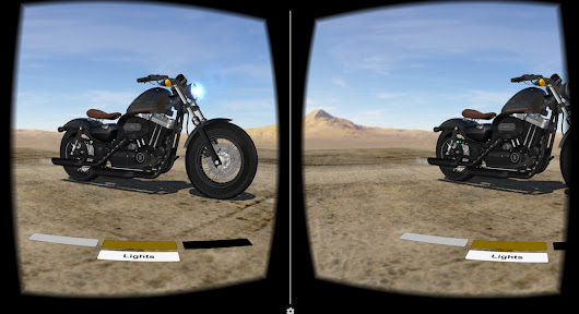 Virtual Reality Experiments - Motorcycle Configurator App For Google Cardboard