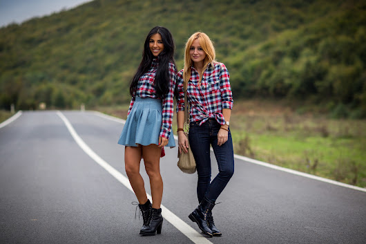 2 Girls and A Plaid Shirt!