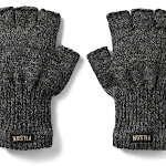 Filson Fingerless Knit Gloves Charcoal