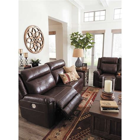 wyline leather power reclining console loveseat  power
