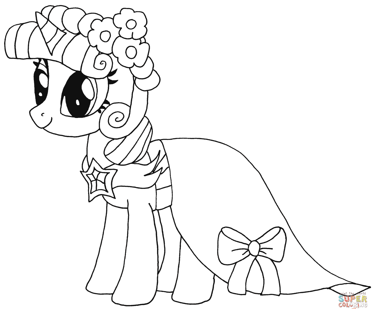 Princesse Twilight Sparkle coloriages pour visualiser la version imprimable ou colorier en ligne patible avec les tablettes iPad et Android