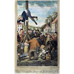 Stamp Act, 1765. /Na Tory Stamp Agent Strung Up On A Liberty Pole While Another Is About To Be Tarred And Feathered In An Anti