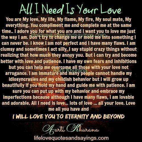 All I Need Is You Love Quotes The Snowboarding