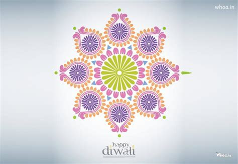 happy diwali  creative freehand rangoli hd