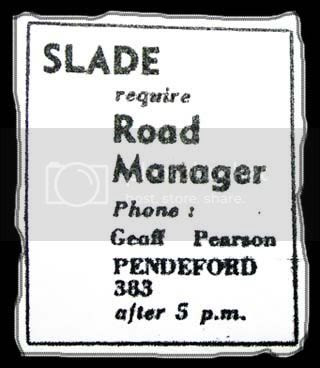Roadie ad small, E&S Wed 16th December 1970