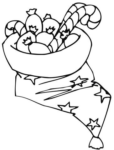 Disegno Di Cappello Di Natale Con Caramelle Da Colorare Disegni Da