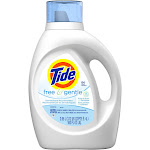 Tide Free and Gentle Liquid Laundry Detergent, Free & Gentle, 64 Loads - 100 fl oz bottle