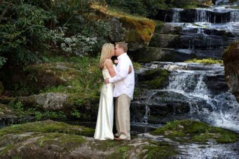 Waterfall wedding services in Gatlinburg and Pigeon Forge