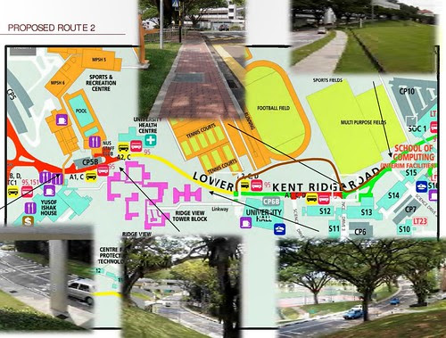 Overhead Bicycle Network in NUS: Route 2