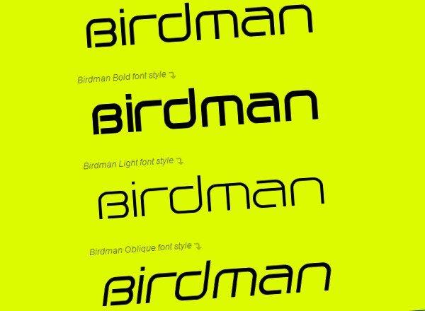Birdman free font