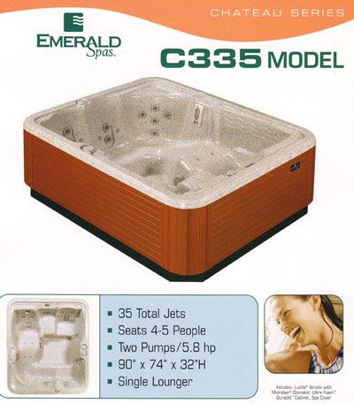 Emerald Spa Chateau C335 - CNY Hot Tubs