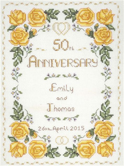 Rose 50th Anniversary Sampler cross stitch kit with