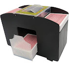 Evelots 4 Deck-Automatic-Battery Operated-Casino Playing Card Shuffler