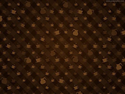 Brown coffee pattern | PSDGraphics