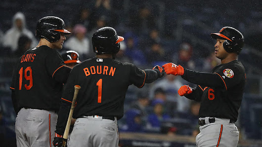 Orioles use homers vs. Yankees, near Wild Card