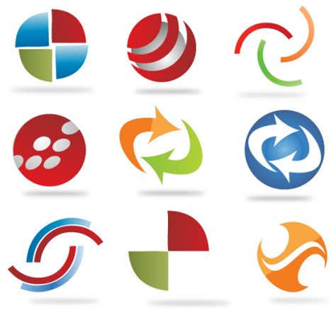abstract custom logo shapes  vector ai