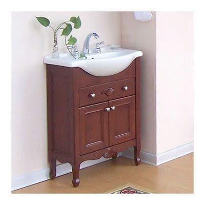 Narrow Bathroom Vanity: Kensington 30 Inch Cinnamon Narrow ...