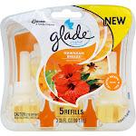 Glade PlugIns Scented Oil, Refills, Hawaiian Breeze - 5 refills, 3.35 fl oz