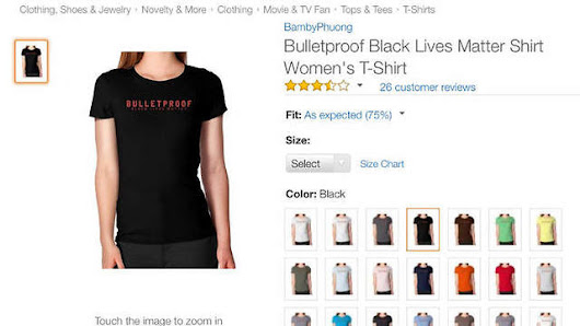 "US Police Union Demands Amazon Stops Selling ""Black Lives Matter"" Shirts"