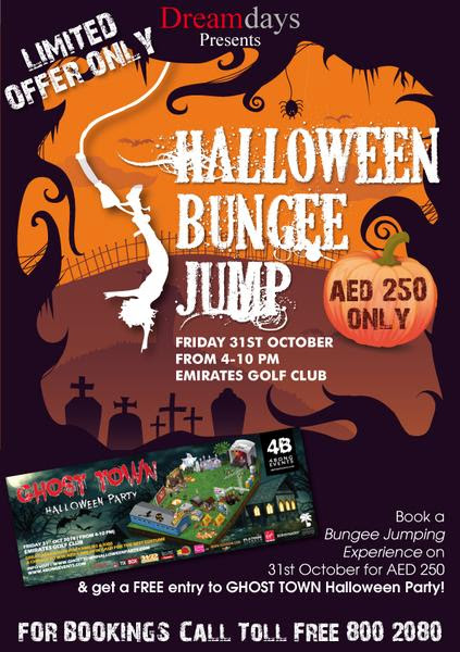 Bungee Jump @ Ghost Town Halloween Party