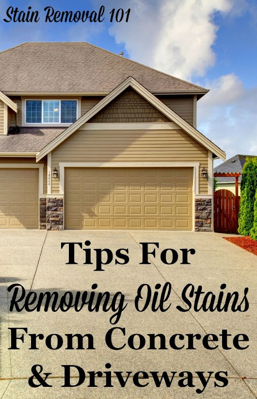 Removing Oil Stains From Concrete: Tips & Instructions