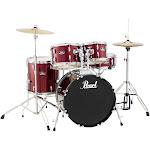 Pearl Roadshow 5-Piece Fusion Drum Set - Wine Red