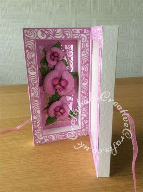 Tonic Shadow Box Orchids3   Craftybabs Creative Crafts