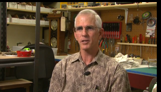 Arizona Horizon Features Frank Beaudrot and his Clock Shop on Channel 8 - All About Time Clock Repair