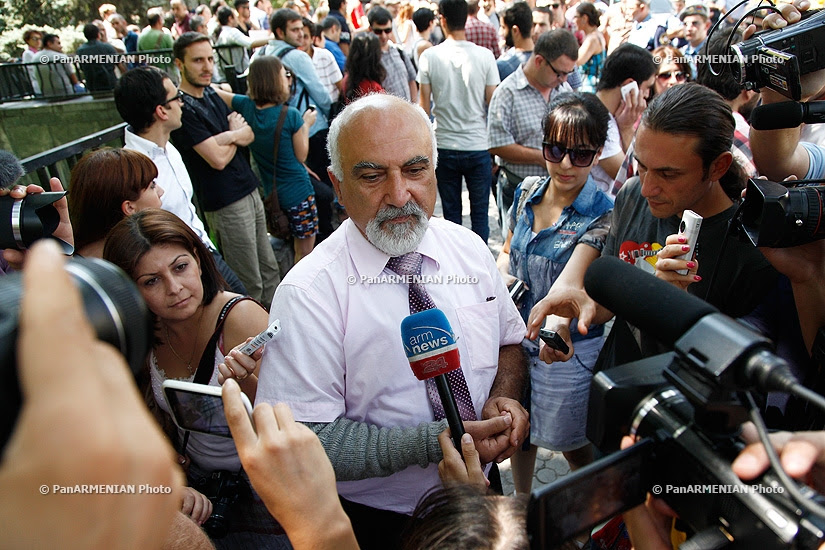 Protest against  Armenia's decision to join Customs Union