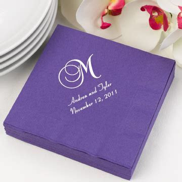 Personalized Wedding Cocktail Napkins (Set of 100)   35 Colors