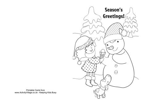 Printable Christmas Coloring Cards U2013 Happy Holidays Coloring Pages