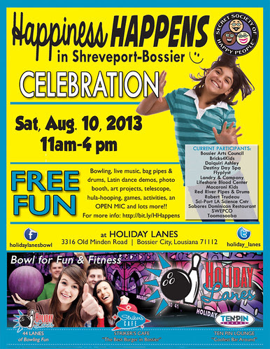 Happiness Happens event Sat, Aug 10 by trudeau