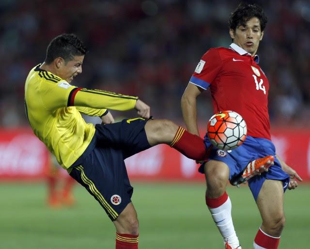 Resultado de imagem para Colômbia x Chile
