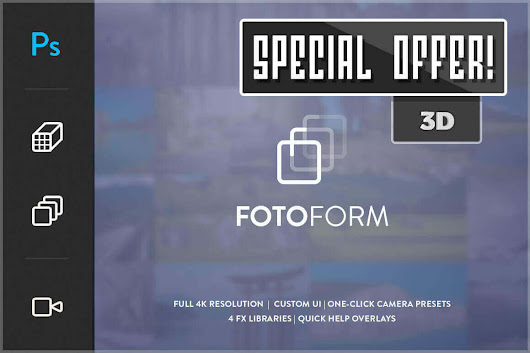 FotoForm - The World's First Geometric 3D Photo Animator - only $17!