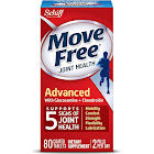 Move Free Triple Strength Glucosamine Chondroitin Joint Supplement with Uniflex and Hyaluronic Acid, Tablets - 80 Count