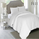 ELLE 1200 Thread Count Cotton Rich Down Comforter 600 Fill Power - Full/Queen White Solid