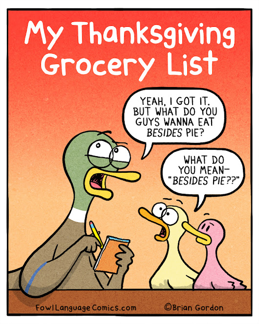 Thanksgiving Grocery List - Fowl Language Comics
