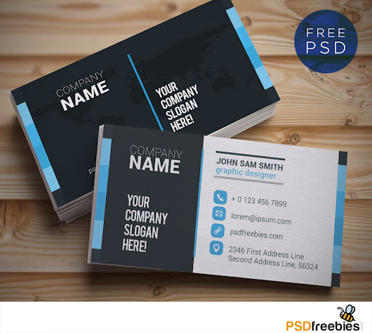 Creative and Clean Business Card Template PSD - PSDFreebies.com