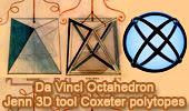 Da Vinci octahedron and Jenn 3D tool for visualizing Coxeter polytopes.