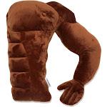 Living Health Products Boyfriend Muscle Man Arm Plush Cotton Pillow, Brown