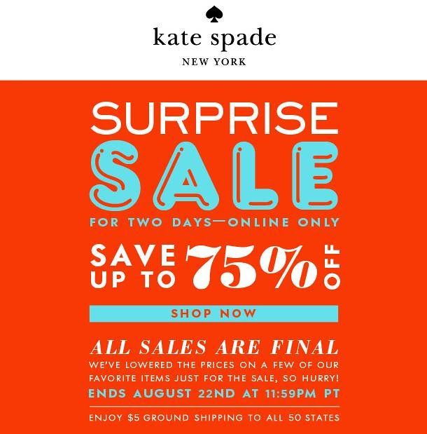 Consume or Consumed: Kate Spade Surprise Sale