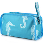 Zodaca Seahorse Womens Travel Cosmetic Bag Multifunction Toiletry Pouch Makeup Organizer Zip Storage Case
