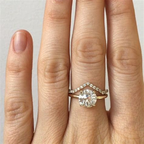 Simple and pretty. Custom engagement ring featuring a 1.94