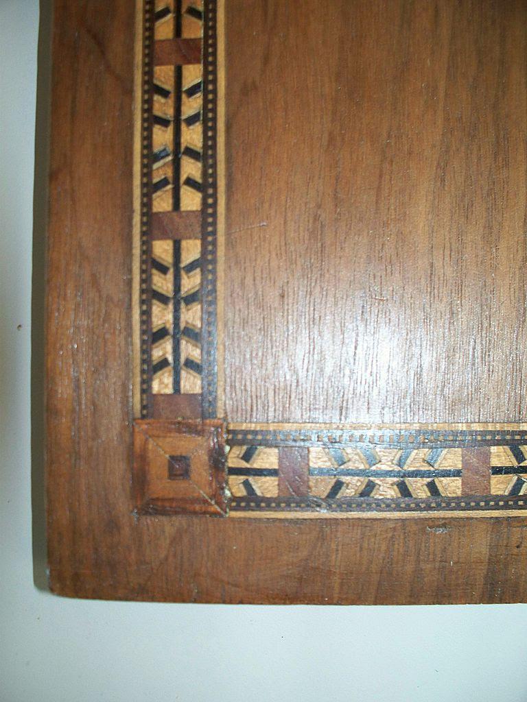 Inlaid Geometric Walnut/Mahogany Wood American Indian Arrow ...