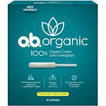 o.b. Organic Tampons - Plant-Based Applicator - Unscented - Regular - 18ct