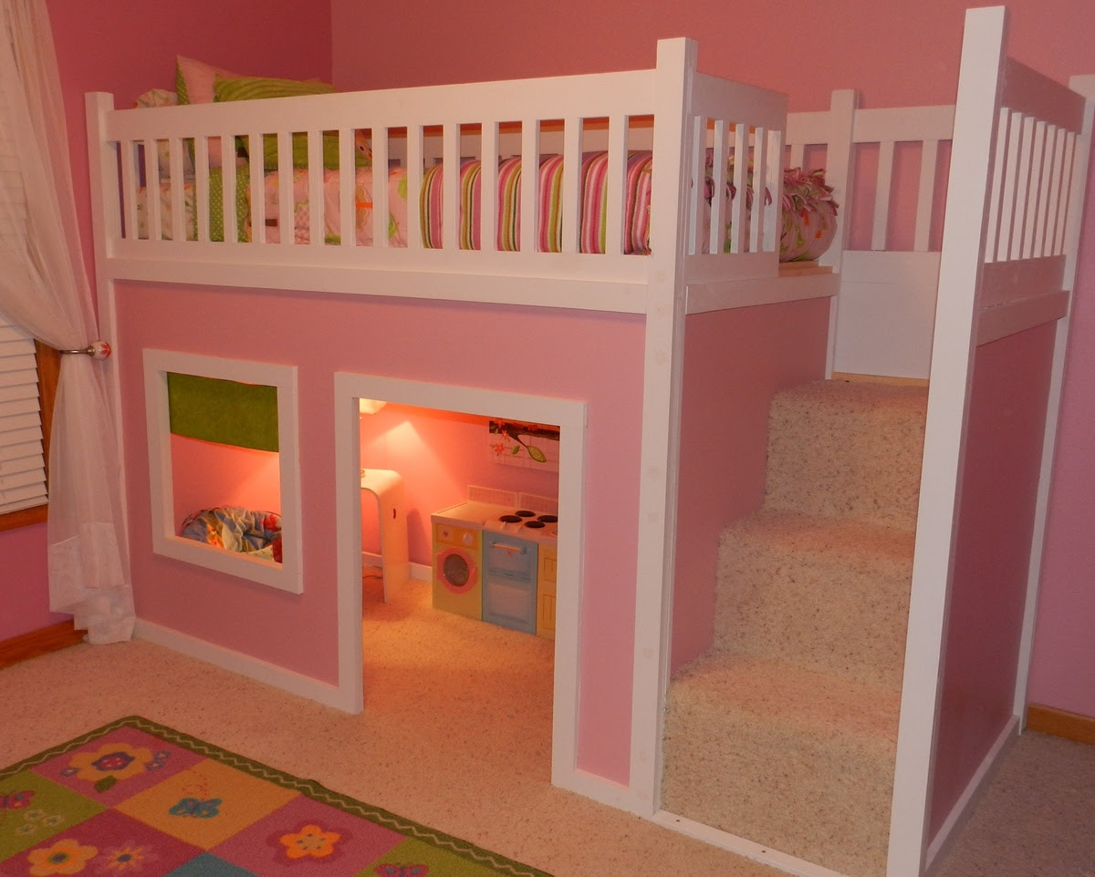 Girls Loft Beds with Stairs